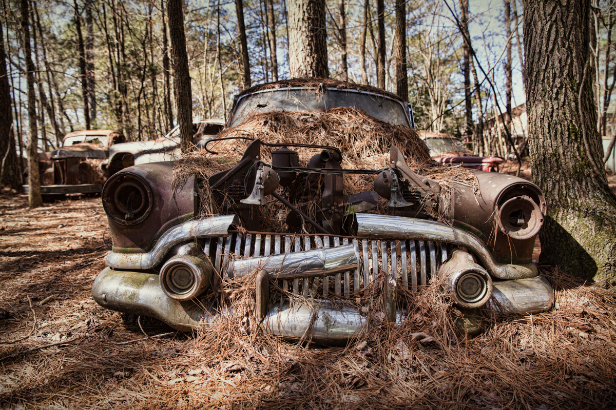 old car grill